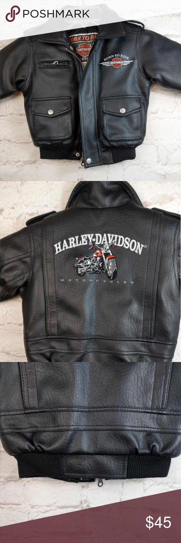 Harley Davidson Black Toddler Moto Jacket Size 3t Harley Davidson Kids Clothes Design Harley Davidson Jacket [ 1740 x 580 Pixel ]