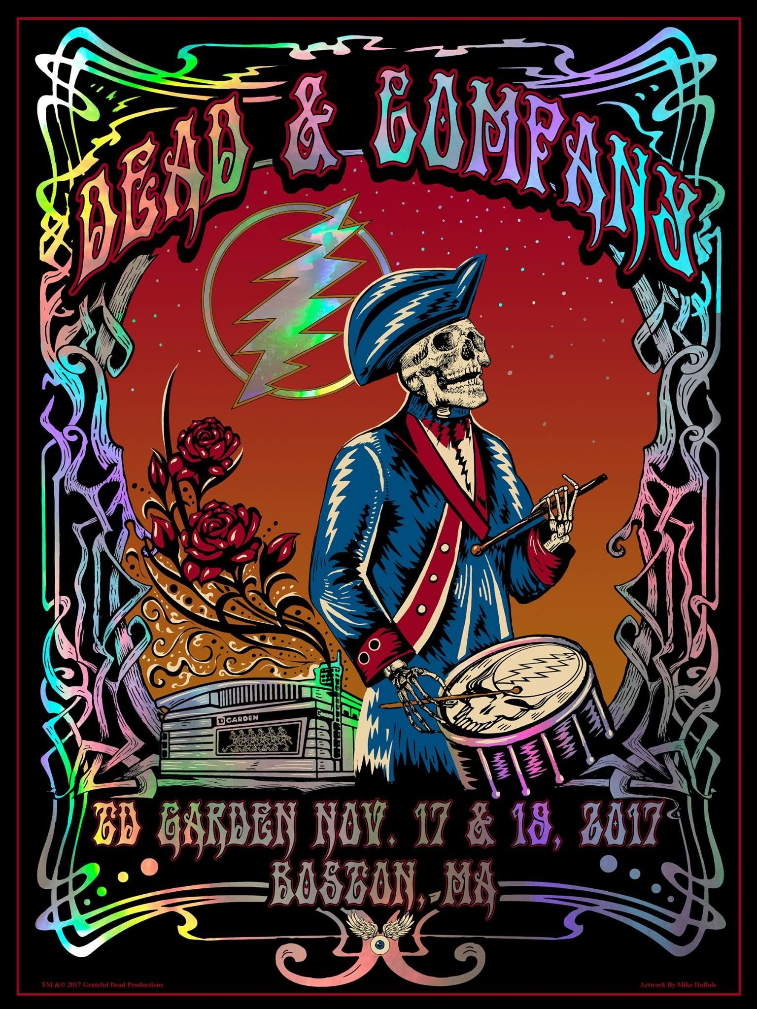 dead and company boston ma 2017 deadish in 2019 grateful dead poster grateful dead dead. Black Bedroom Furniture Sets. Home Design Ideas
