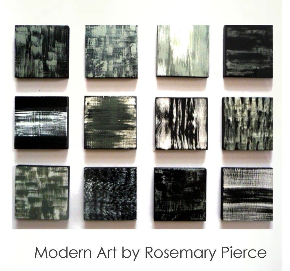 Image of poetic in black white silver painted wood wall art