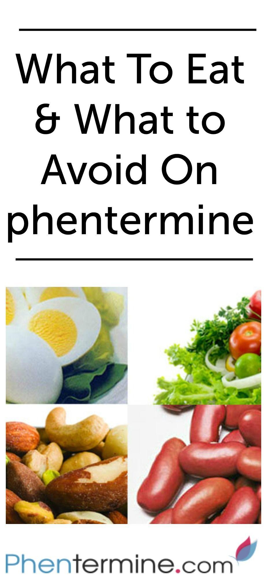 meal plan while taking phentermine
