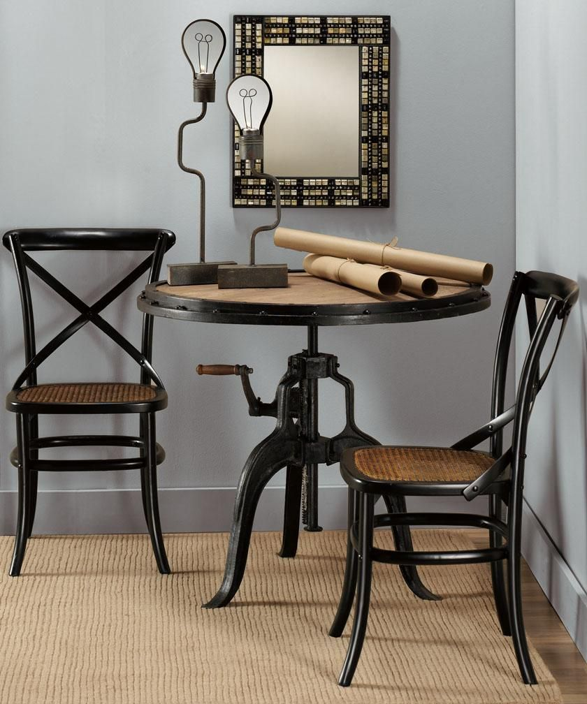 Industrial Adjustable-Height Table This Accent Table