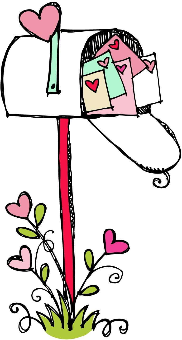 mailbox clipart black and white happy valentines day valentine s rh pinterest com valentine card clipart black and white