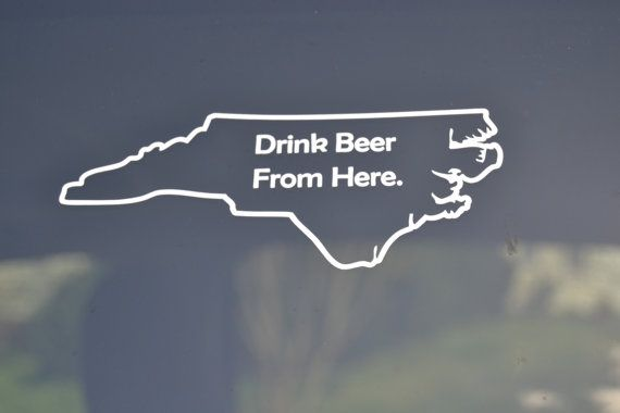 2d7d8b474df1f State Beer Decal - State Beer Bumper Sticker - Drink Beer From Here ...