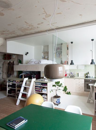 This Stockholm Small Space Nails Industrial-Modern Style+#refinery29