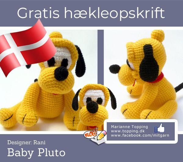 6f8ea4b764f Hæklet baby Pluto - hækl ham til din Disney samling. Dansk og gratis! | Div  hækle ide'er | Baby, Disney og Crochet Toys