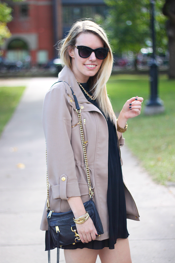 Tan Anorak Coat with Gold Hardware