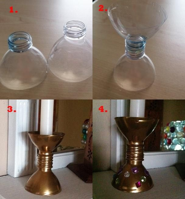kerzenst nder aus pet flaschen basteln pet pet flaschen basteln pet flaschen und flaschen. Black Bedroom Furniture Sets. Home Design Ideas