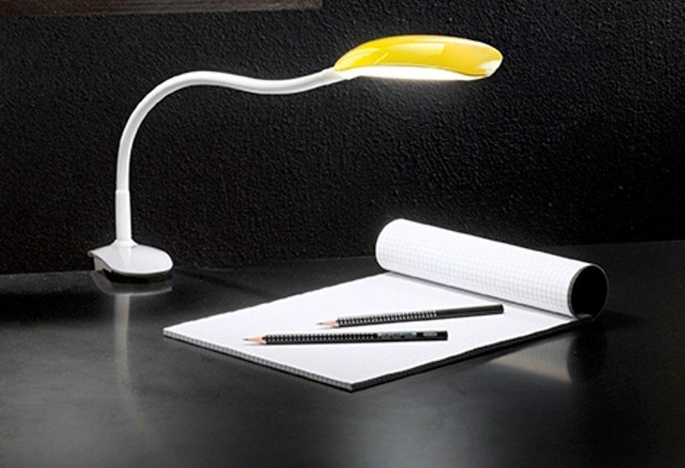 Lampada Scrivania Viola : Perenz 6314 g lampada tavolo scrivania in plastica flex con pinza