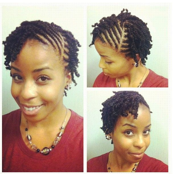 Twists On Short Natural Hair Naturalhair Transitioninghair