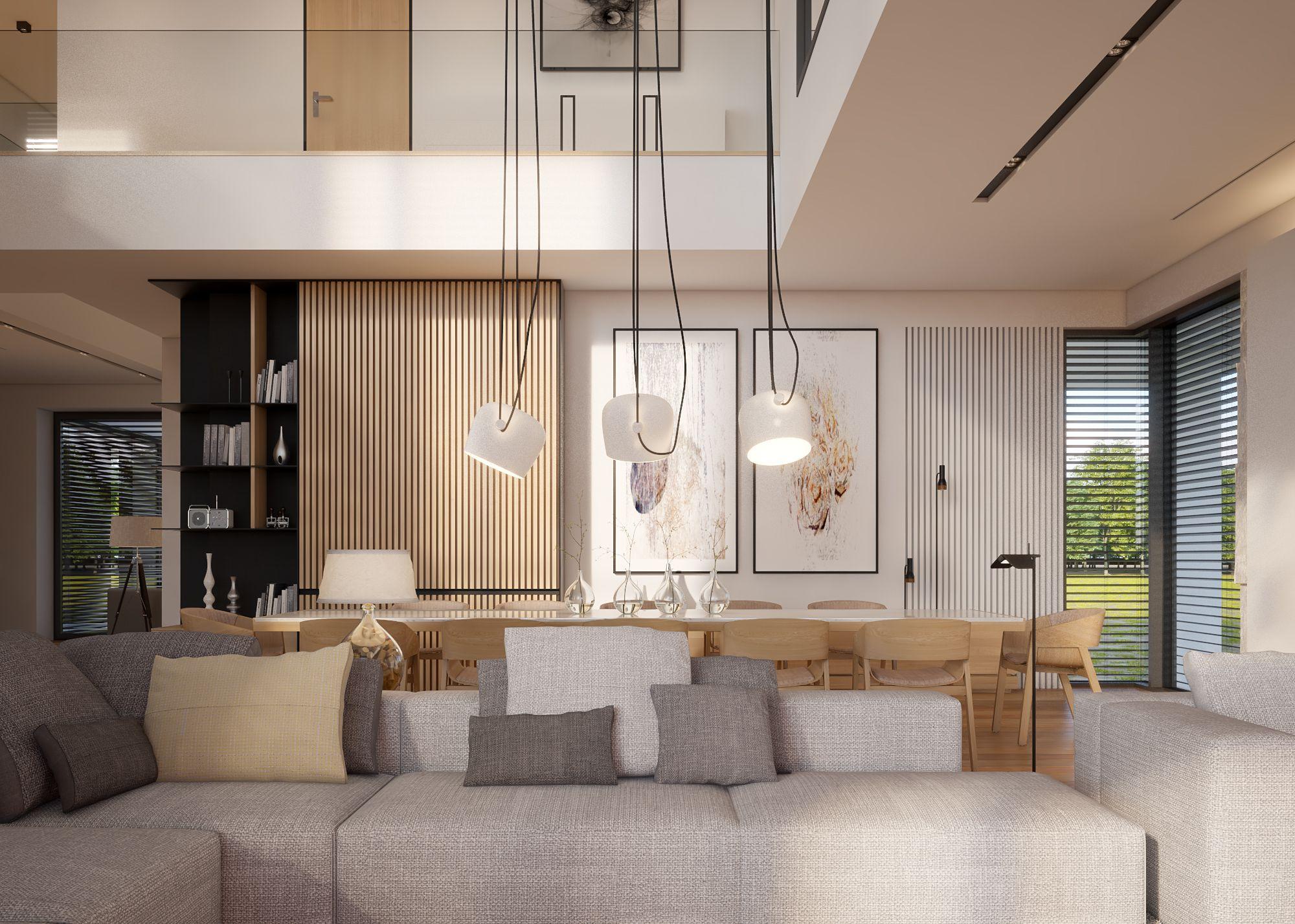 Modern Interieur Warm : Warm modern interior design vis for lk projekt pl on behance