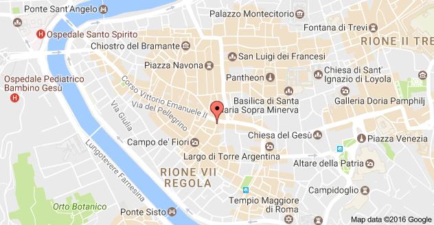 Map Of Via Del Paradiso 41 00186 Roma Italy Rome Map World