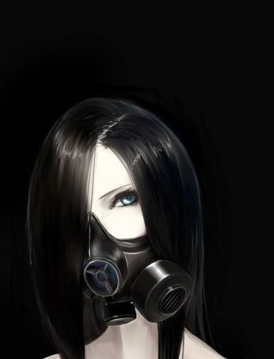 Anime girl medical mask google search anime pic - Anime girl with gas mask ...