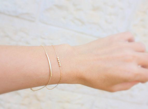 ON SALE Delicate Gold Bracelet / Dainty Chain by JULJULGOLD