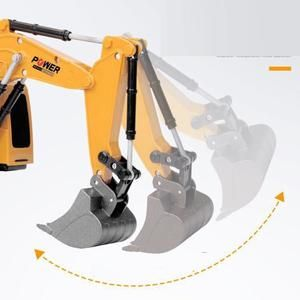 2.4Ghz 6 Channel 1:24 RC Excavator toy RC Engineering Car Alloy and pl – shopbabyitems