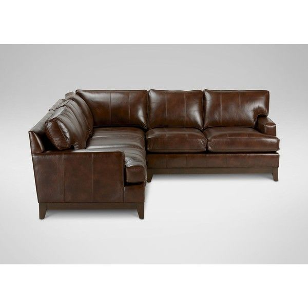Ethan Allen Arcata Leather Sectional Quick Ship Leather Sectional Sectional Quick Ship Sofa