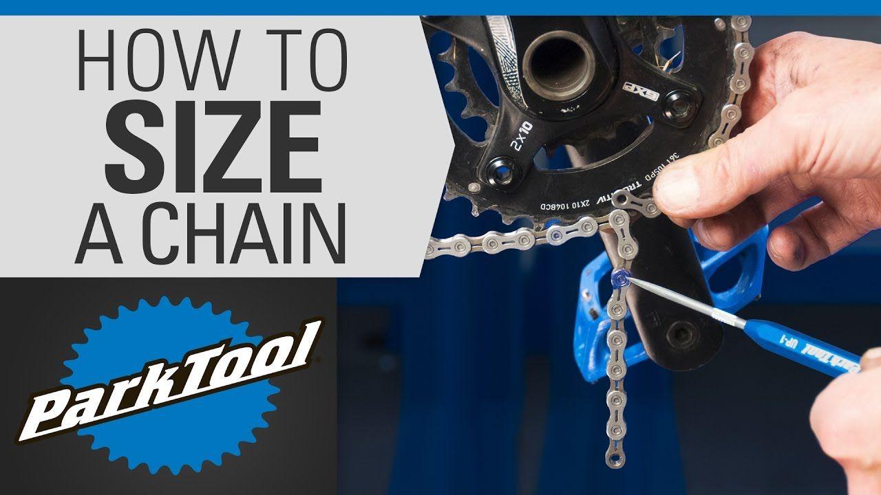 How To Size A Bicycle Chain Bike Repair Bike Repair Stand