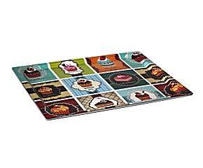 Bandeja en chapa de madera y resina II - multicolor