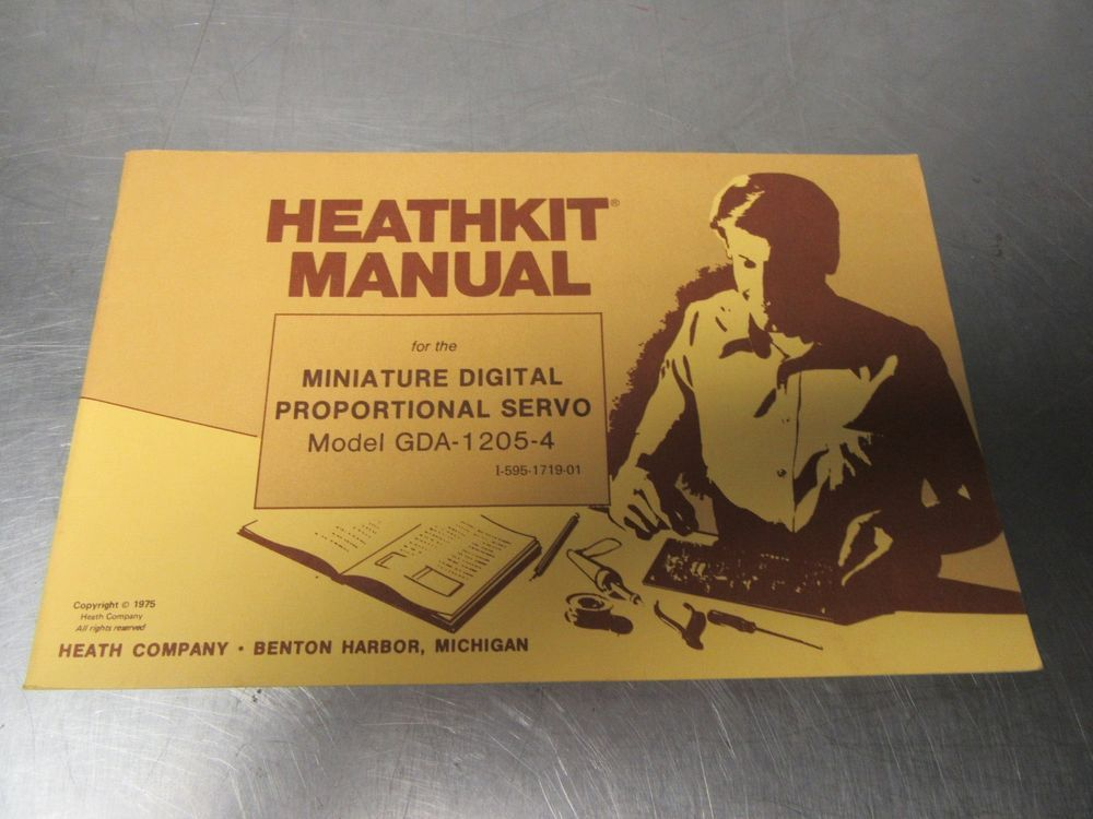 Vintage Heathkit Manual GDA- 1205-4, Straight pages, Clean Corners, Great Cover #HeathKit