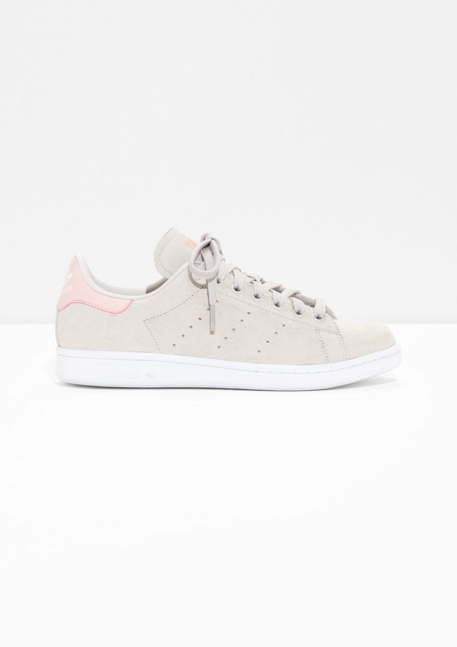 Other Stories image 1 of adidas Stan Smith in Beige/Berry