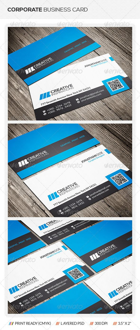 Corporate Business Card (With images) Corporate business