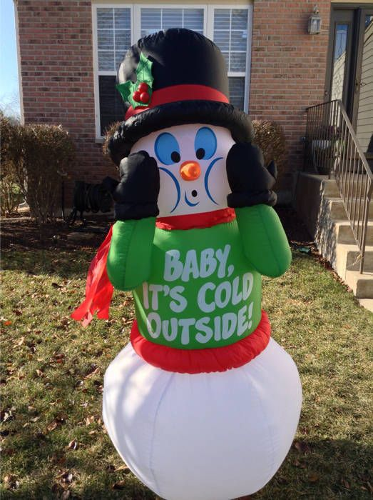 Baby Its Cold Outside 5 Shivering Airblown Inflatable Snowman By Gemmy Baby Shower Winter