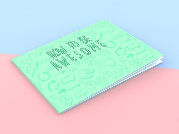 Free Landscape Book Cover Mockup Mockups Pinterest Mockup - free booklet template