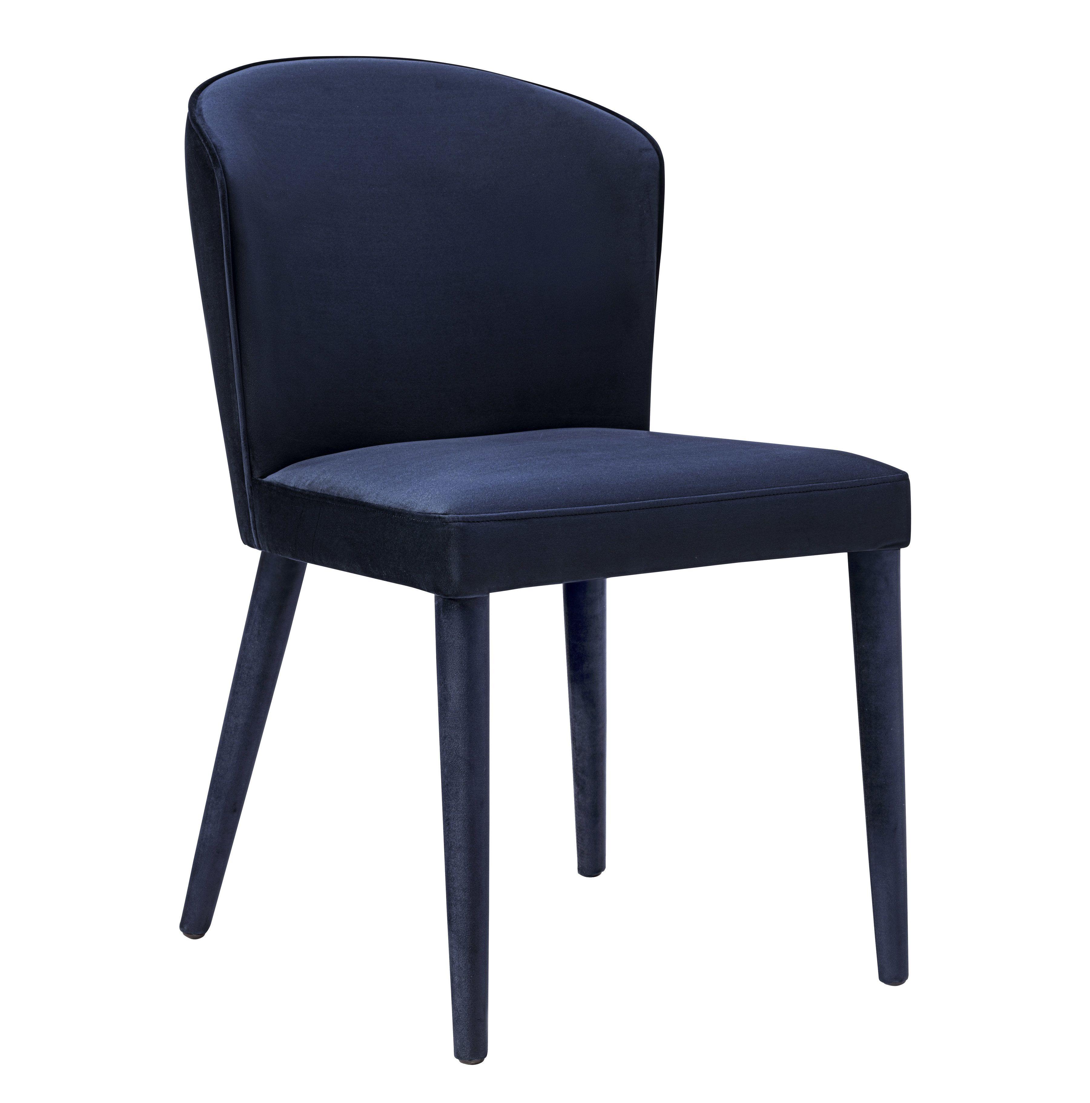 Metropolitan Navy Velvet Chair TOV Furniture Dining