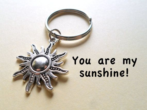 Sunshine keychain sun charm key ring daughter son husband sunshine keychain sun charm key ring daughter son husband wife couple necklaceseaster giftkey ringsanniversary giftshusband negle Choice Image