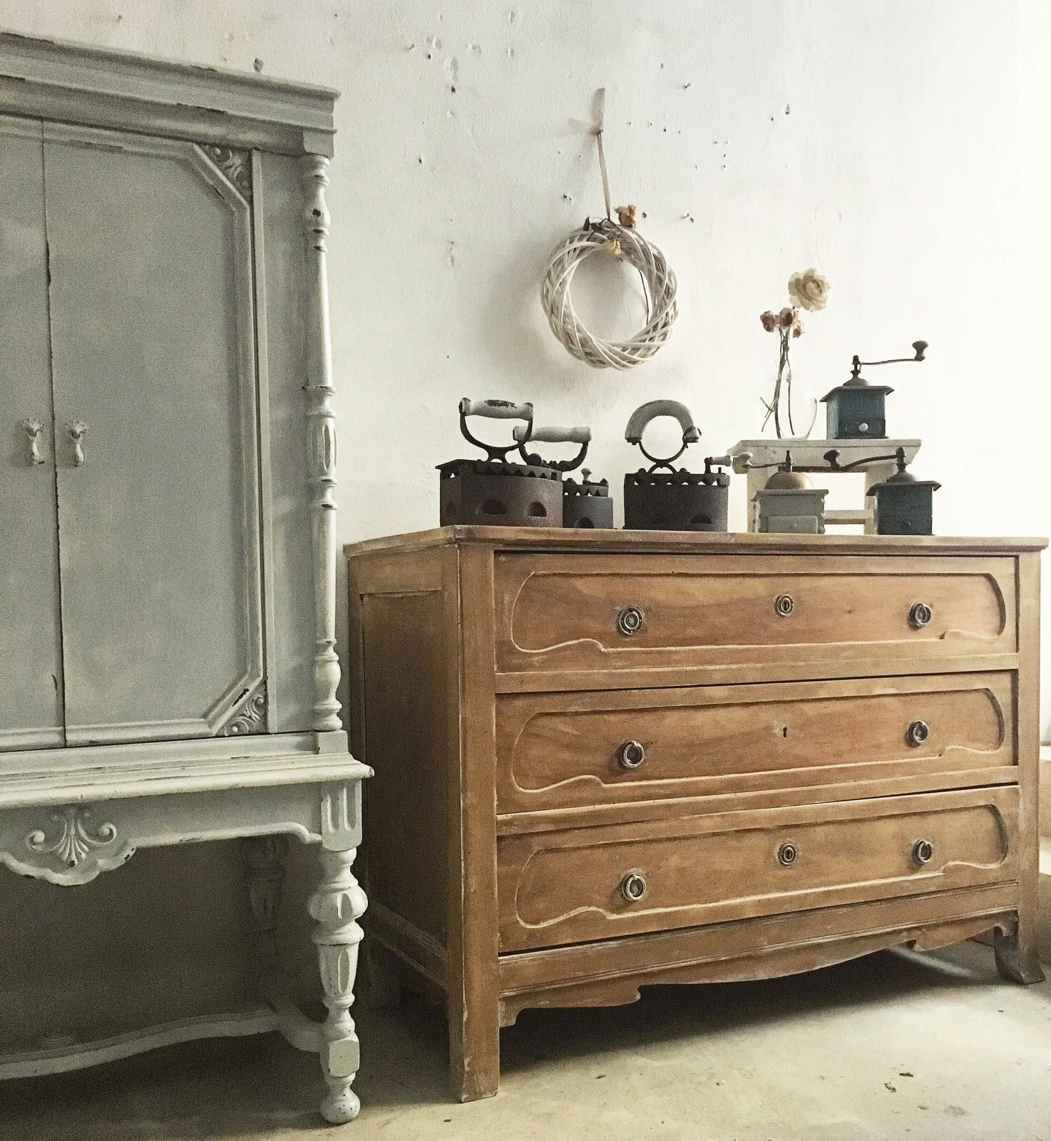 antique Chest of drawers shabby chic Cassettiera shabby chic | Le ...