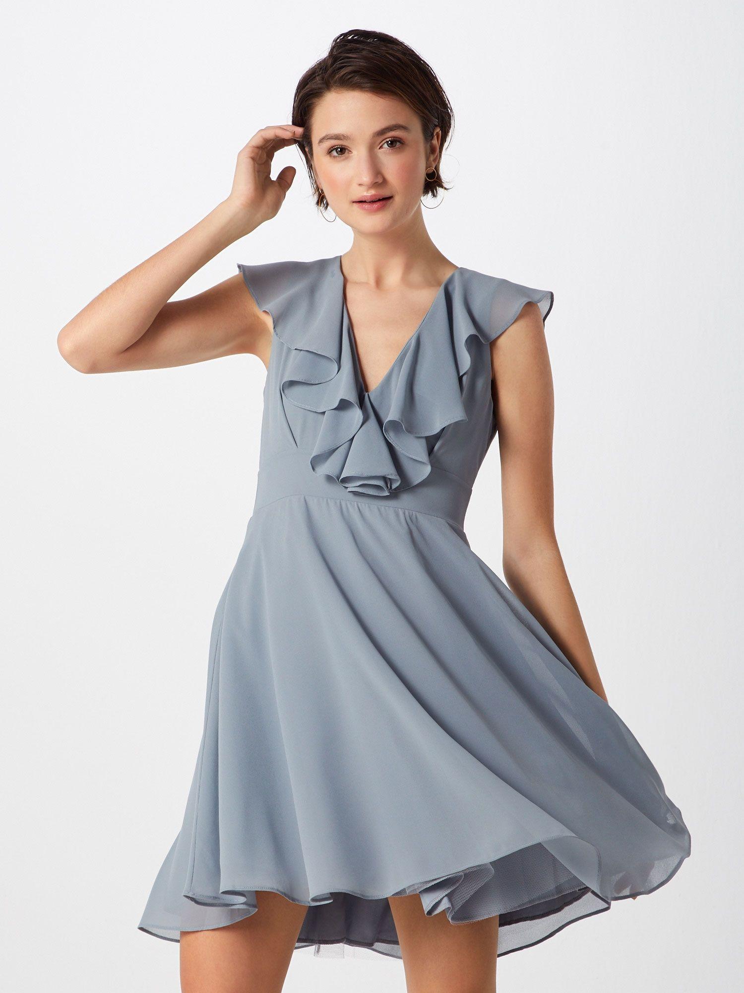 TFNC Kleid Damen, Blau / Grau, Größe 18  Modestil, Kleider, Blau grau