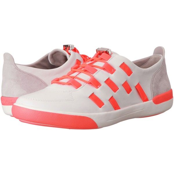 Order Online Womens Shoes Calvin Klein Tullie White/Neon Pink Leather/Patent/Suede