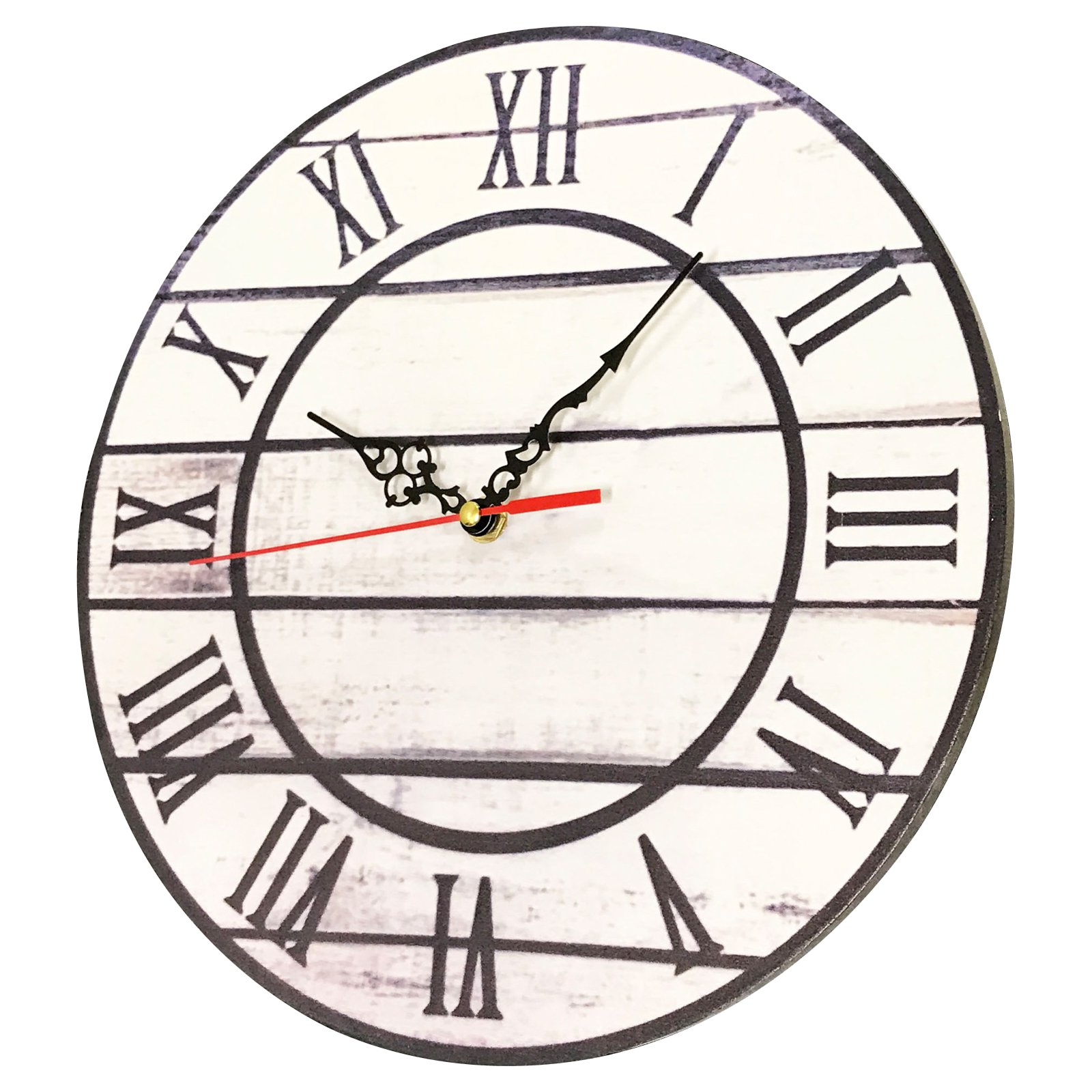 Creative Motion Industries 12 In Roman Numeral Wall Clock Roman Numeral Wall Clock Clock Wall Clock