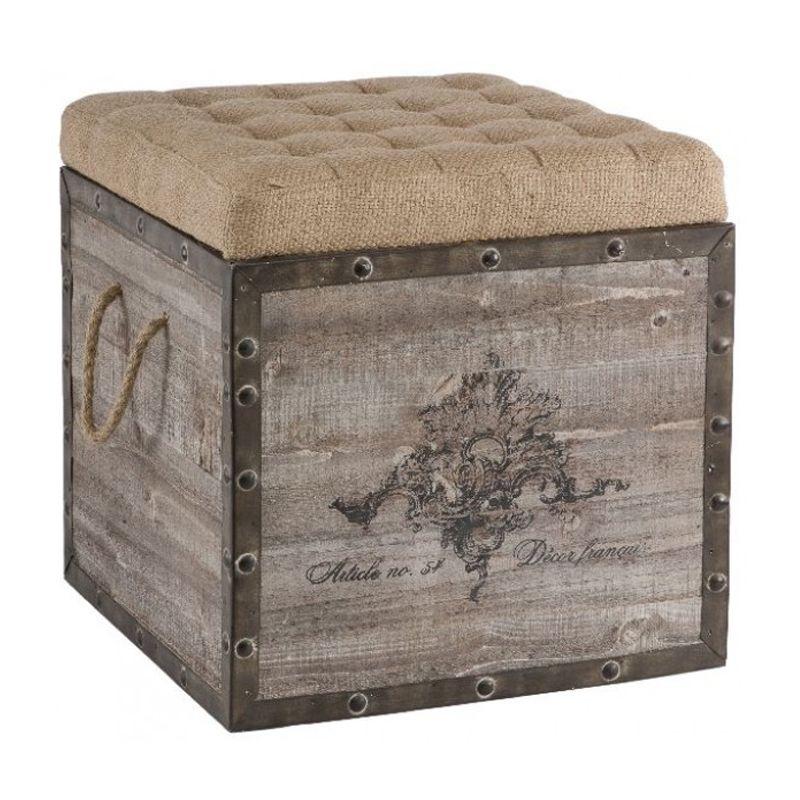 Wonderful Aidan Gray Decor Storage Cube   Eclectic   Ottomans And Cubes   Layla Grayce