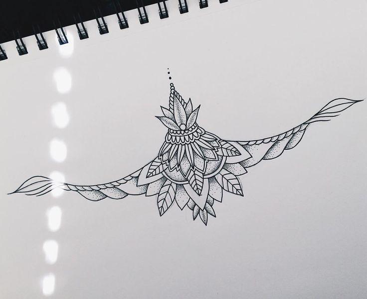 Line Art Tattoo Designs : Lower sternum design female tattoos ideas about
