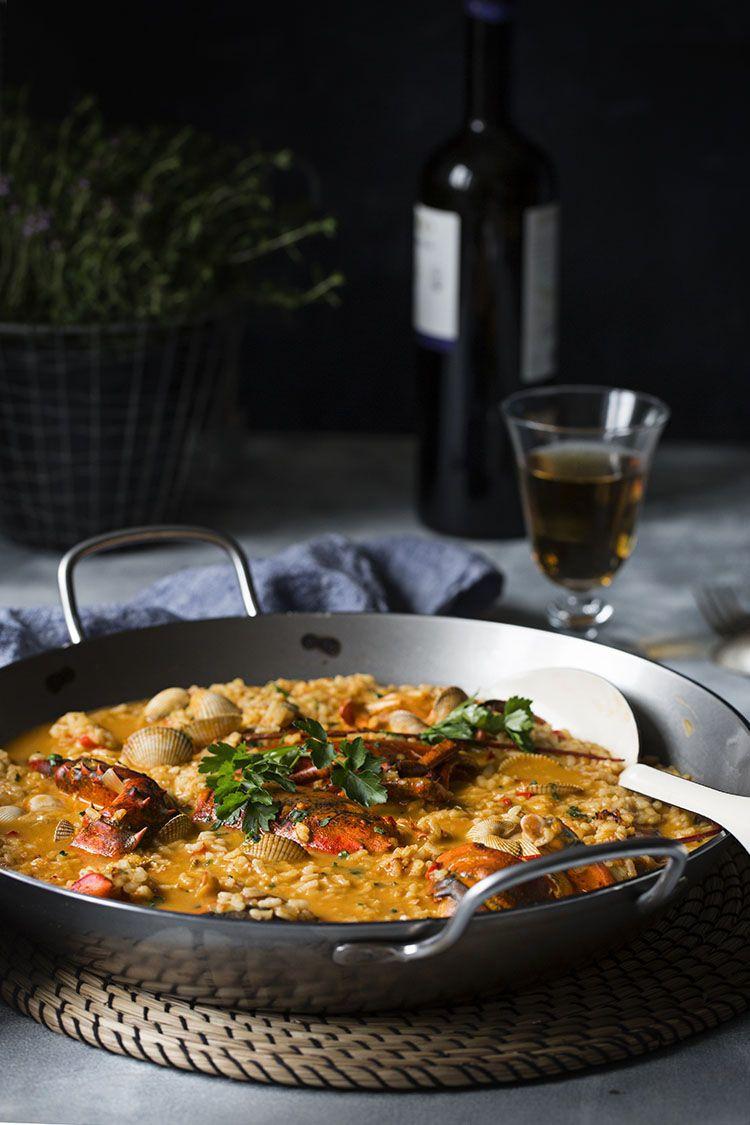 Arroz Caldoso De Bogavante Y Berberechos Sweet And Sour Receta Recetas Con Arroz Recetas De Comida Paellas Receta