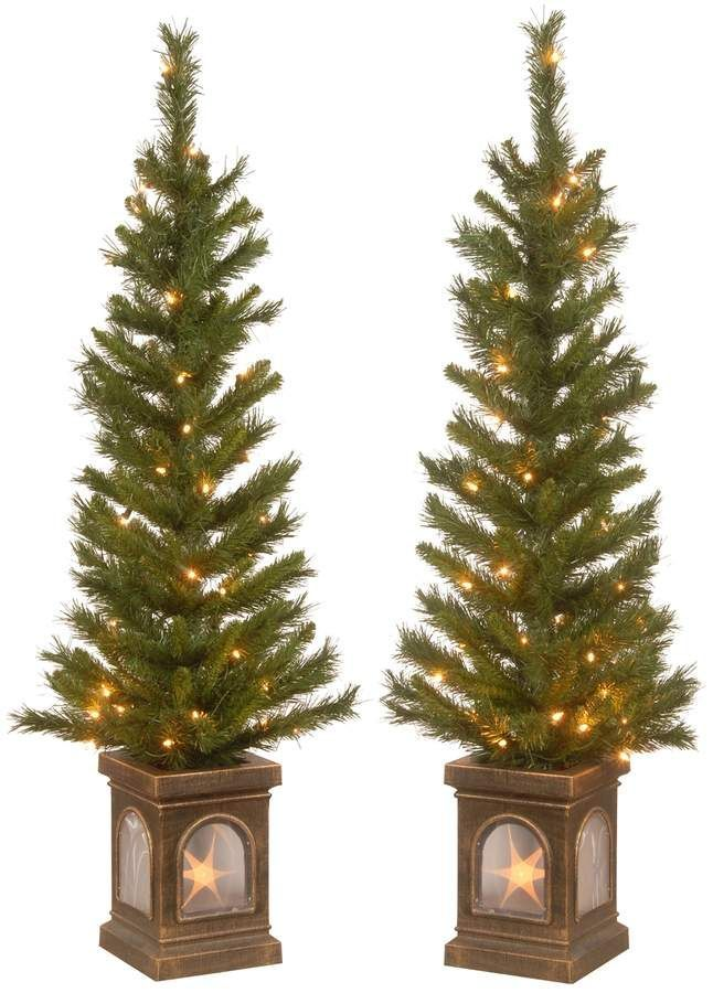 Christmas Tree 4' Lehigh Valley Pine Entrance Trees Set ...