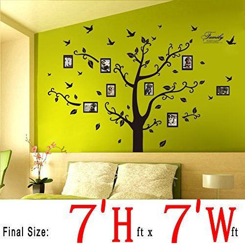 Wall Painting Supplies dago wall stickers wall decals trees photo frame butterfly birds