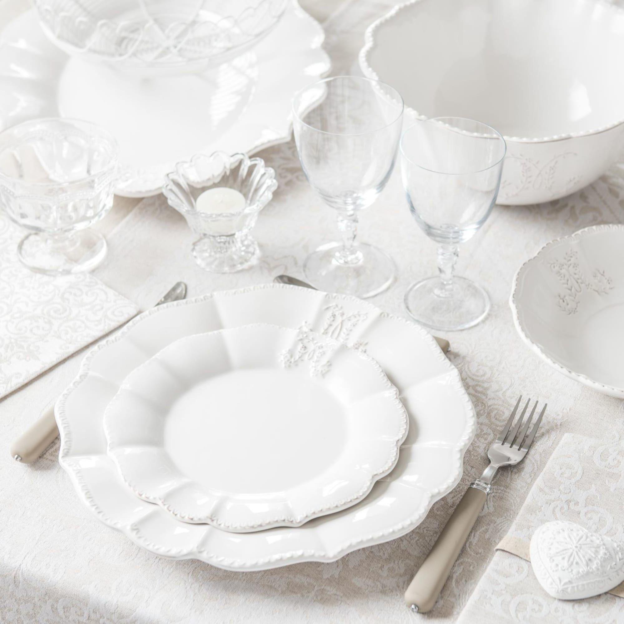Plat Ovale En Faience Blanche En 2020 Vaisselle Blanche Maison Du Monde Et Assiette Creuse