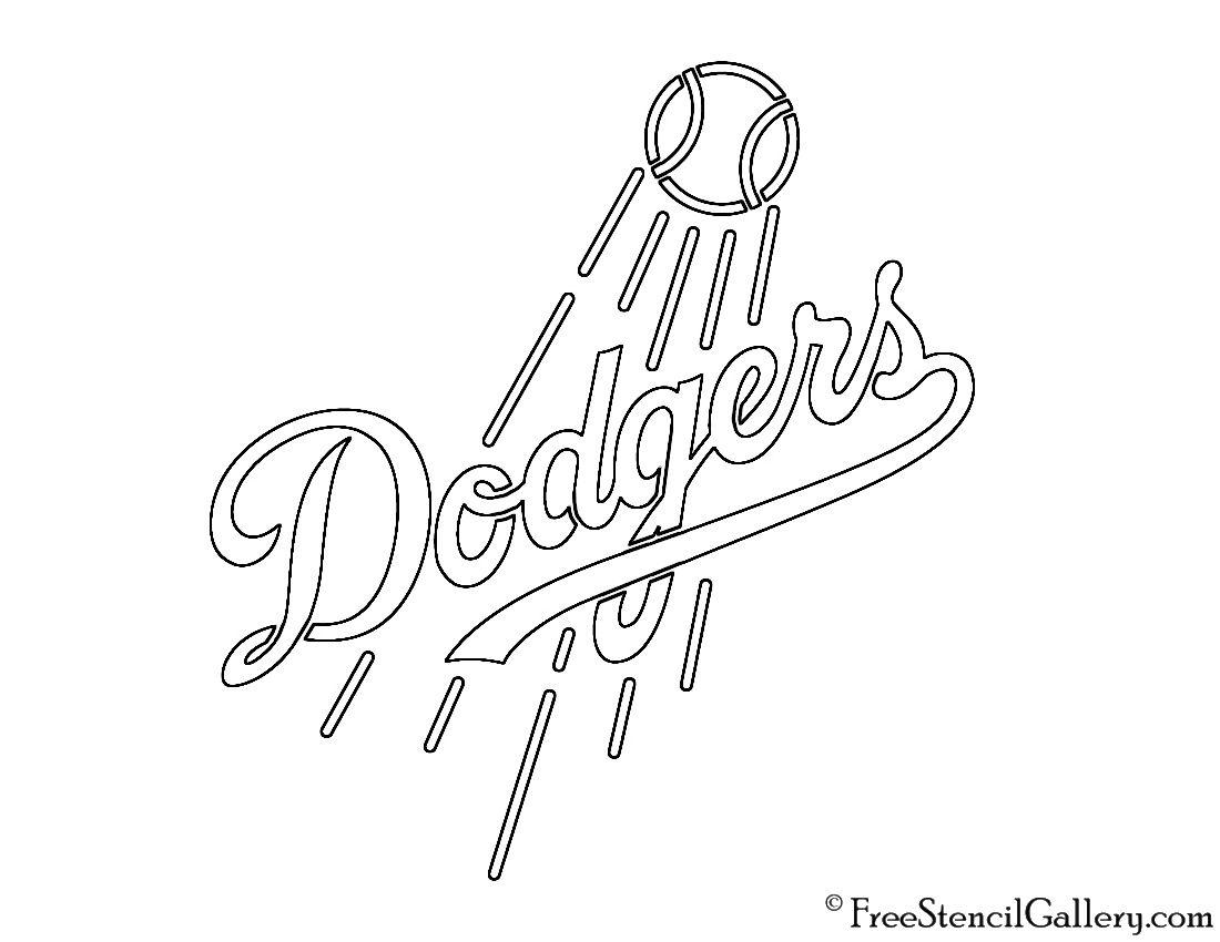 MLB - Los Angeles Dodgers Logo Stencil  Los angeles dodgers logo