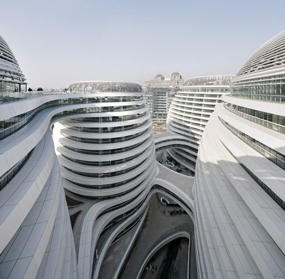 Gallery of galaxy soho zaha hadid architects by hufton for Architecture parametrique