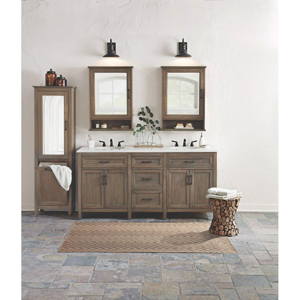 Home Decorators Collection Walden 71 In W Vanity In Aldridge Grey