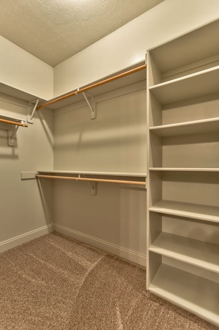 Small Master Closet Organization Layout Shelves