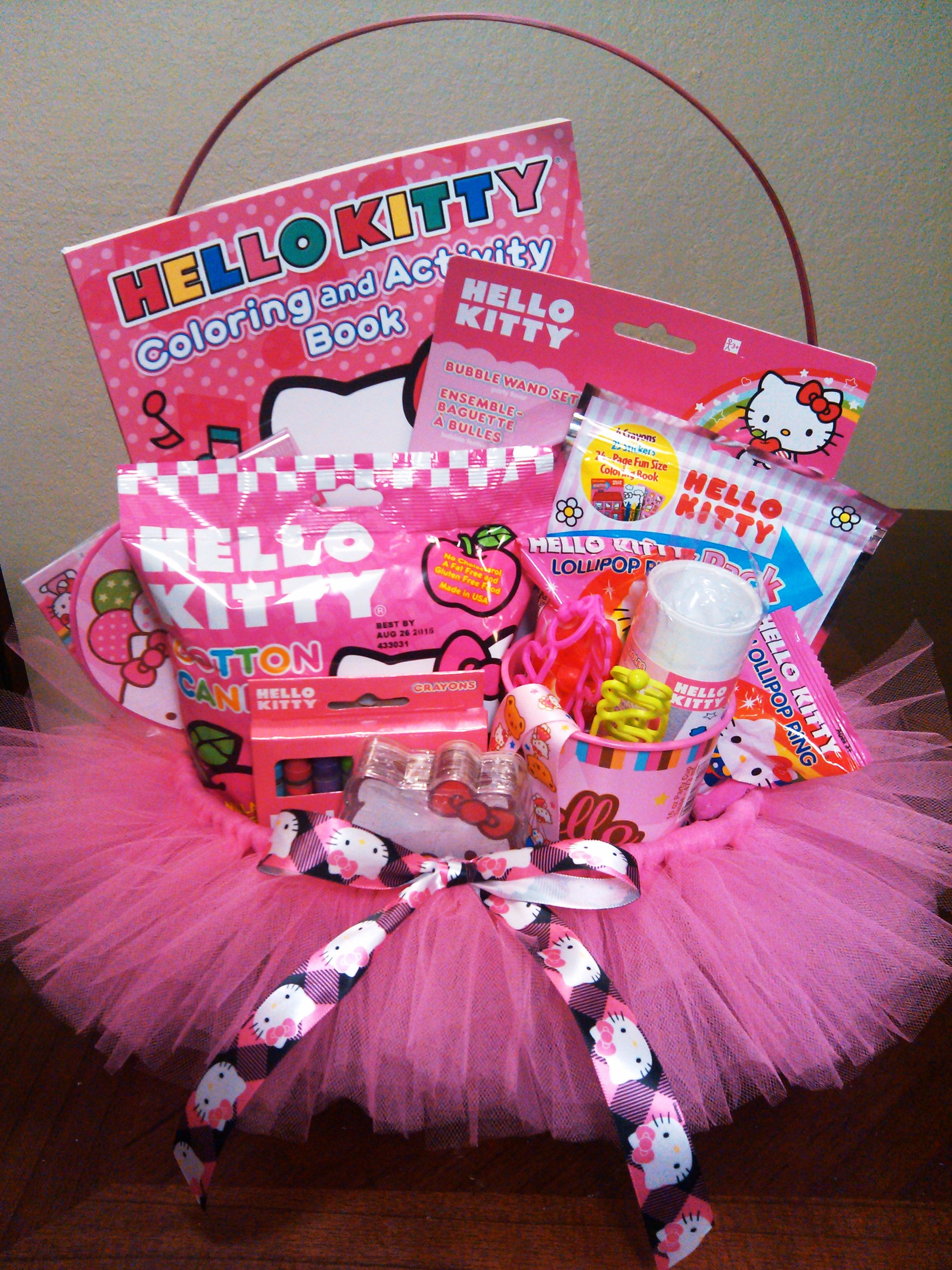 Hello Kitty Tutu Basket | Tutu Ideas | Pinterest