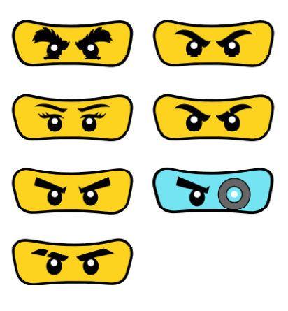 Pack of 7 Lego Ninjago Eyes от Partyummy на Etsy