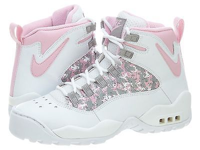 NIKE AIR DARWIN HI LE GS BIG KIDS 313690-161 White Pink Basketball Shoes Sz