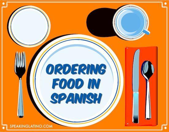 Spanish Restaurant Vocabulary Games