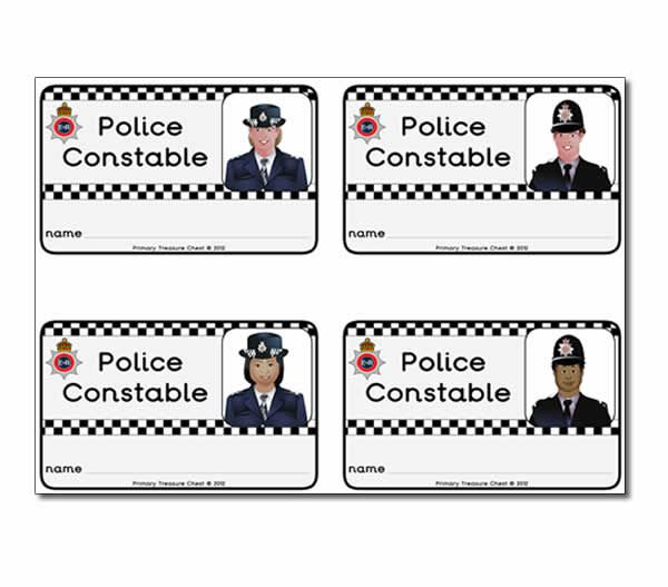 Police Constable Id Badges  Nursery