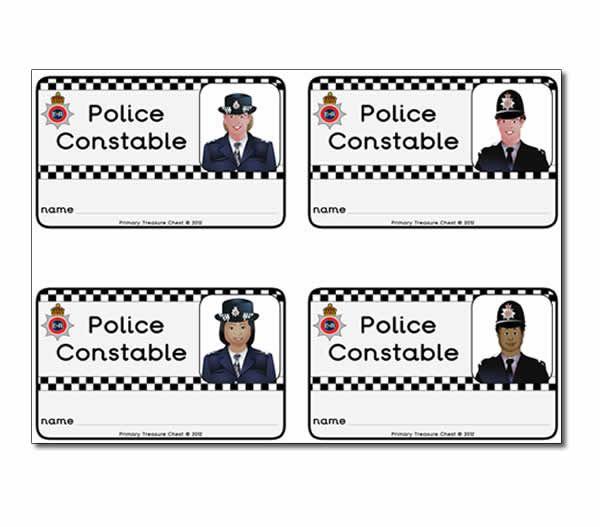 Police Constable ID Badges Nursery Pinterest - id badge template