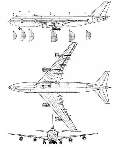 Boeing 747 | Cad Drawings | Airplane sketch, Boeing 747, 747 airplane