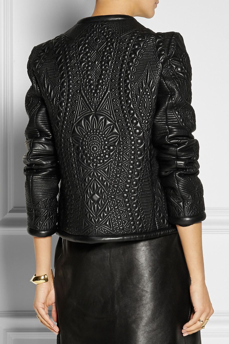 Emilio Pucci|Quilted leather jacket|NET-A-PORTER.COM